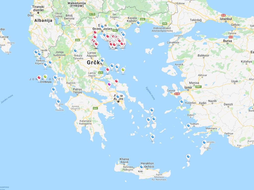 Mapa Grcke Karta Grcke Mapa 2020