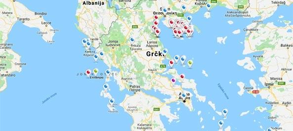 Mapa - Grčka - Mapa Grčke Auto Karta Grcke, Mapa Grcke